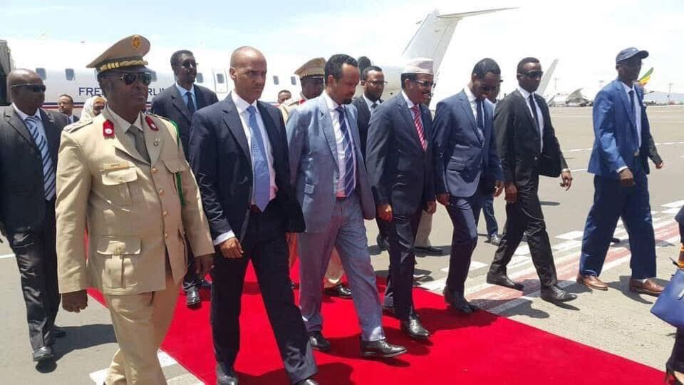 Somali President arrives in Adds Ababa
