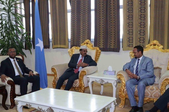 Sidee Farmaajo loogu soo dhoweeyey Addis (Sawiro)