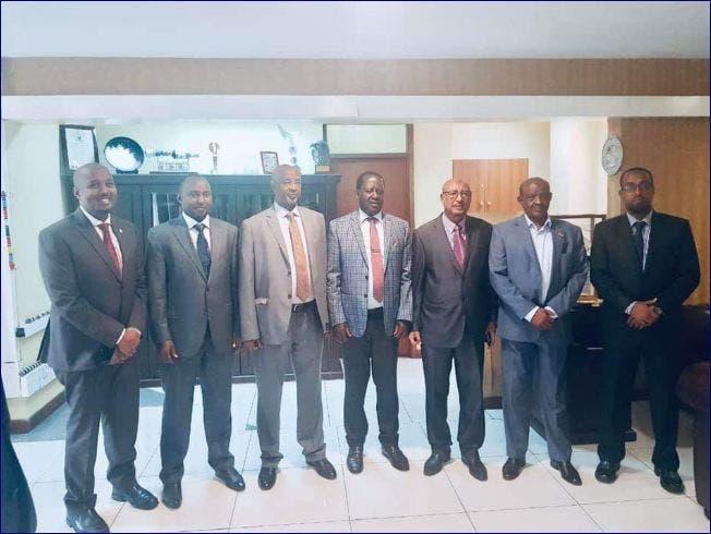 Wafdiga Somaliland ee ku sugan Nairobi la kulmay Raila Odinga + Sawirro