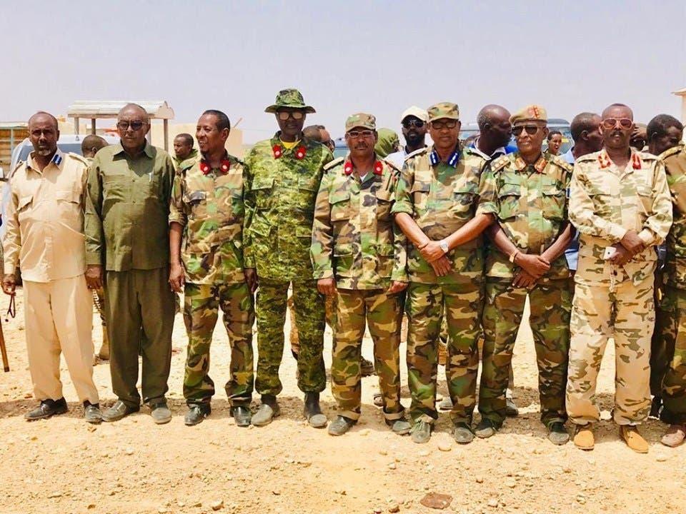 Sawiro: Saraakiil kasoo goostay Somaliland oo soo dhaweyn weyn loogu sameeyey Garoowe