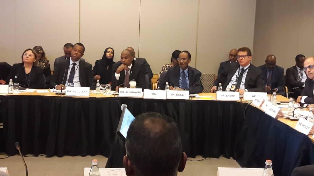 Sawirro: Muxuu R/W Kheyre kala kulmay shirka IMF iyo World Bank ee Washington?