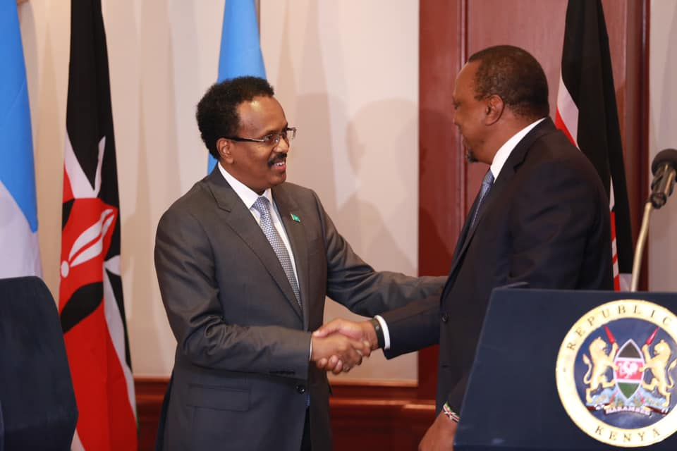 Uhuru, Farmaajo meet at hotel, agree to resolve maritime dispute amicably
