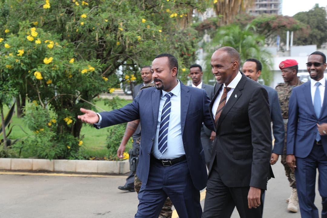 Xafiiska Kheyre oo war ka soo saaray kulan uu Addis kula qaatay Abiy + Sawirro