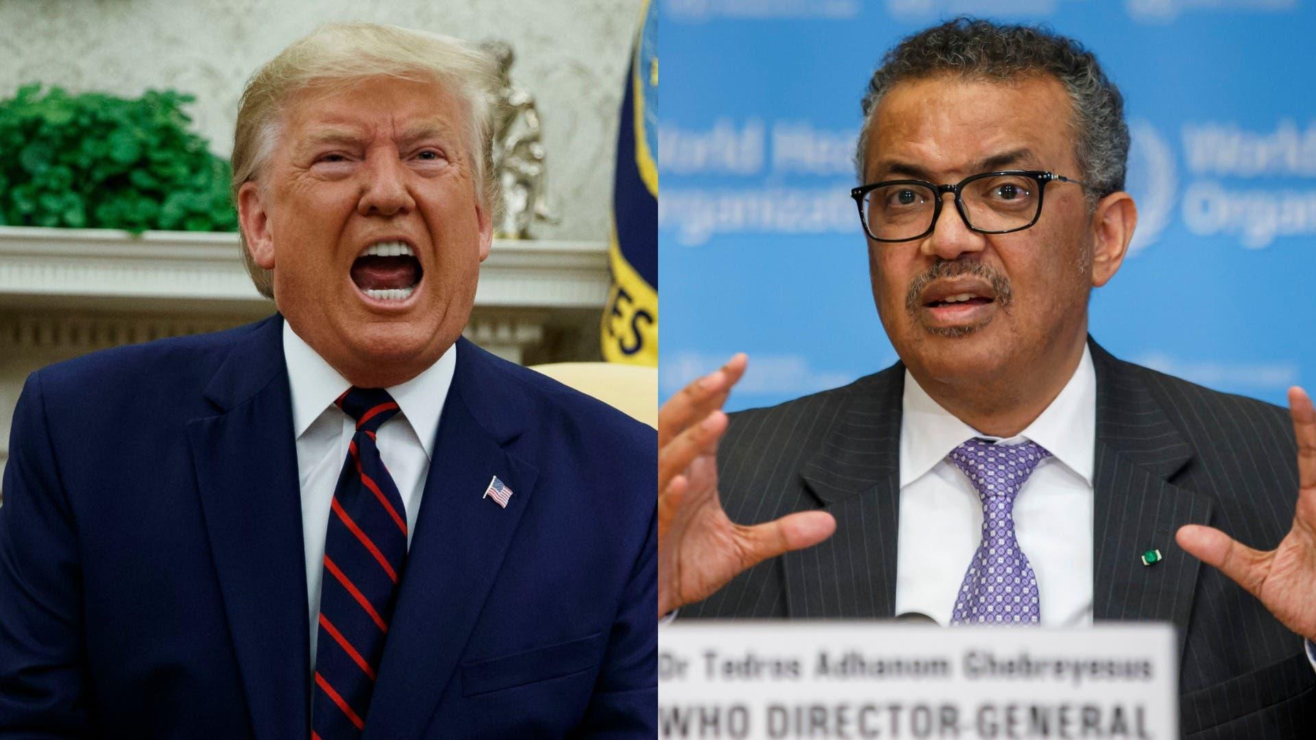Trump oo weerar culus ku qaaday Tedros Adhanom
