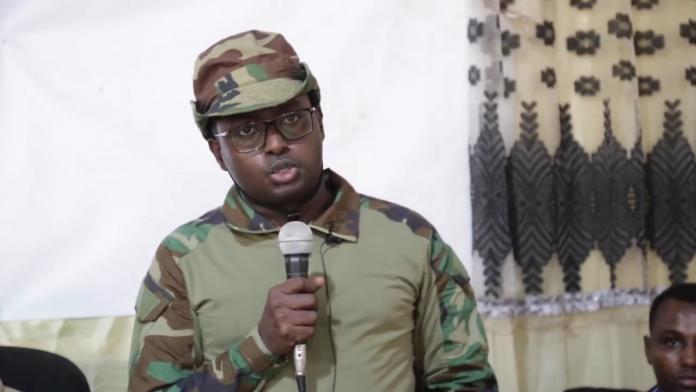 Sawirro: Shuute oo amar culus siiyey ciidanka Danab ee ka hortagaya colaada ka taagan Wanlaweyn
