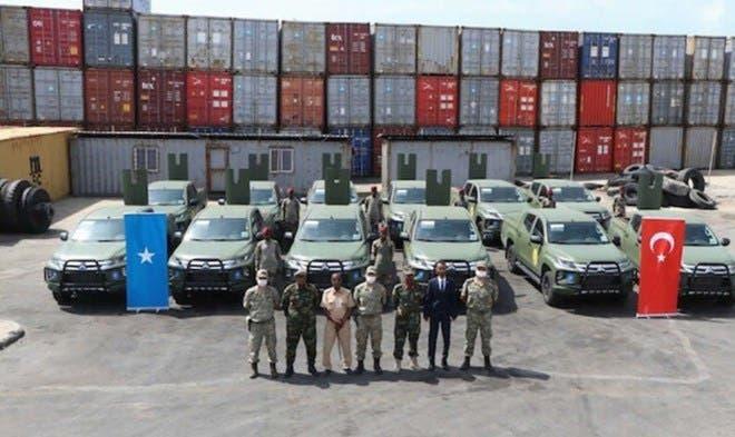 DF Somalia oo Turkiga kala wareegtay gaadiid dagaal