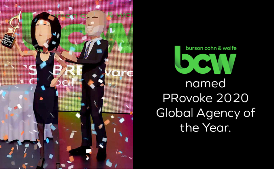 BCW named PRovoke 2020 Global Agency of the Year