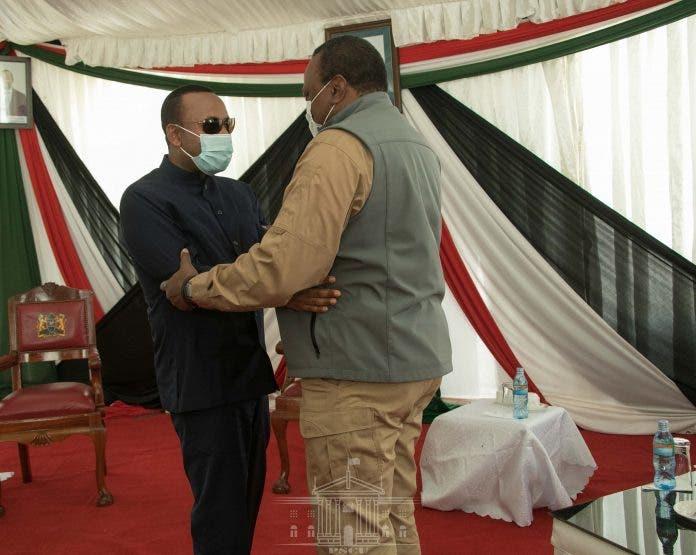 Sawirro: R/W Abiy Ahmed oo booqasho ku tegay Kenya