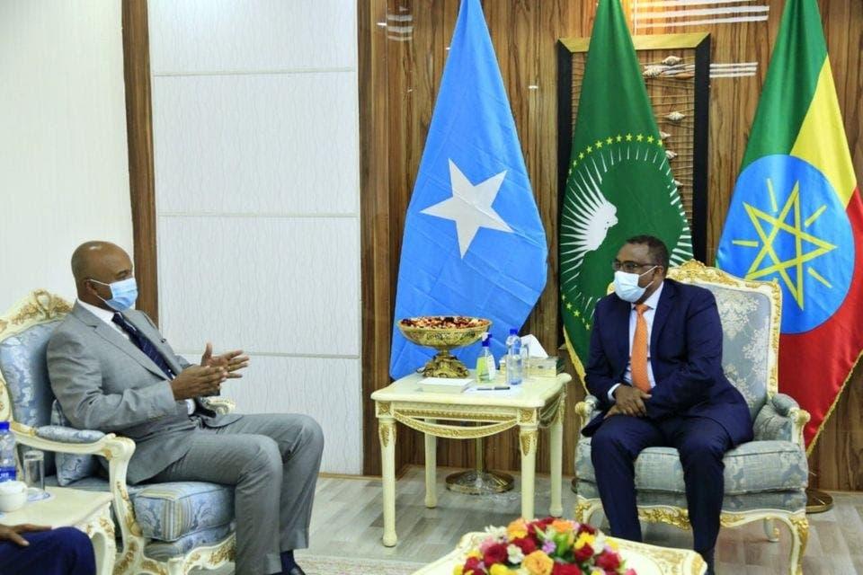 Sawiro: Maxaa looga hadlay kulankii wasiirada A/dibedda Soomaaliya iyo Ethiopia?