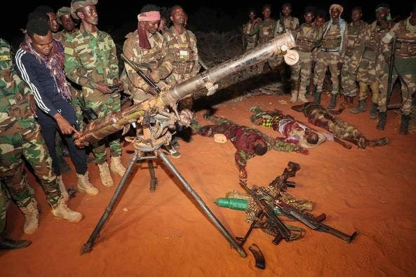 Dowladda oo soo bandhigtay jabkii ay gaarsiiyeen Al-Shabaab + Sawiro