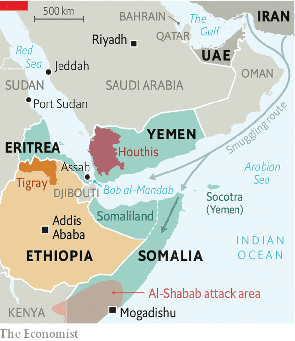 Gulf rivalries are spilling into Africa's Horn