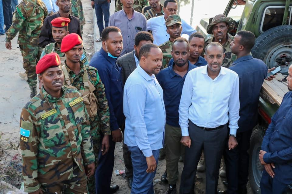 Sawirro: Ciidanka Badbaado Qaran oo laga saaray goobihii ay qabsadeen ee Muqdisho