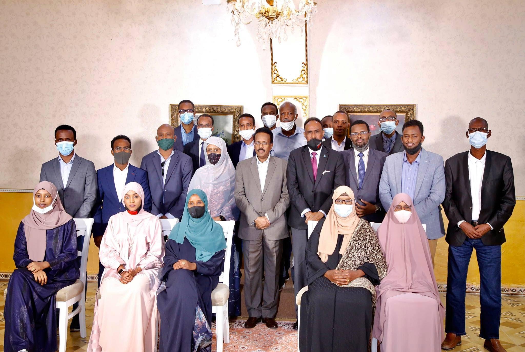 Sawirro: FARMAAJO oo kulan kale ku qabtay Villa Somalia