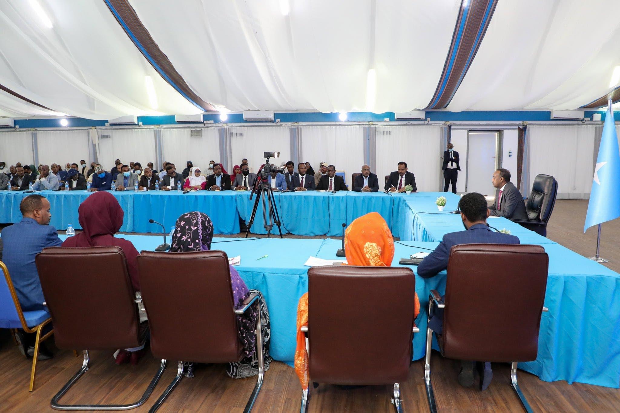 Sawirro: Doorashada Somalia oo si rasmi ah loo guda galay