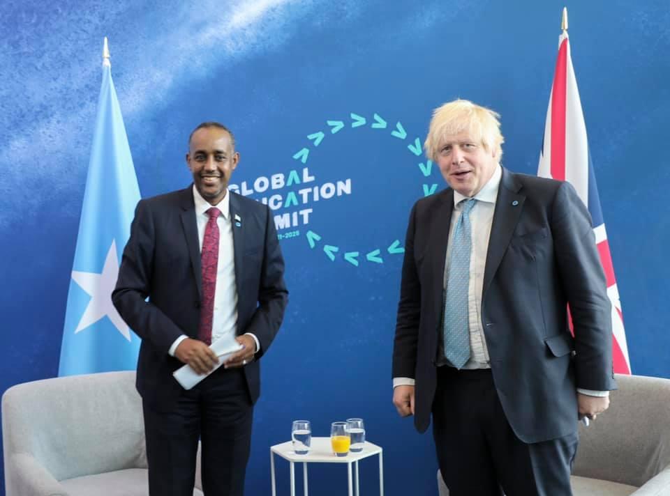 Somali PM attends Global Education Summit, meets UK Prime Minister Johnson
