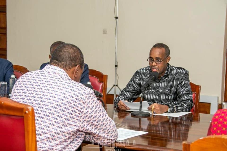 Sawirro: Bayaan laga soo saaray kulankii Mombasa ee Rooble iyo Uhuru Kenyatta