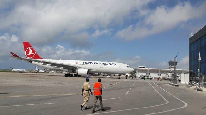 Diyaaradda Turkish Airlines oo kasoo degtay Muqdisho iyo Fahad Yaasiin Xaaji oo…